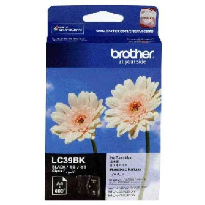 BROTHER LC-39 BLACK INK CARTRIDGE