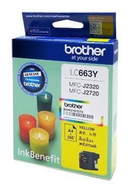 Brother LC-663Y Yellow ink cartridge (LC663Y)