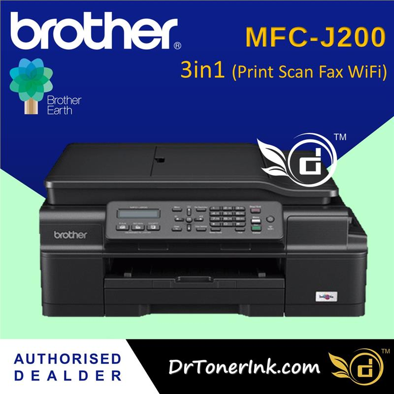 Brother MFC-J200 InkBenefit A4 - 4in1 Wireless Print, Scan, Copy, Fax