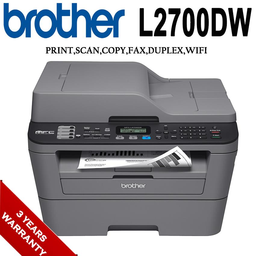 Brother MFC-L2700DW 5in1 Mono Laser Multi-Function Printer
