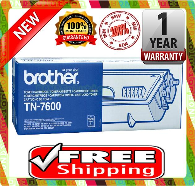 NEW  BROTHER TN-7600 Toner 1600 8820 1670 7600 5000 1800 (FREE SHIPPIN