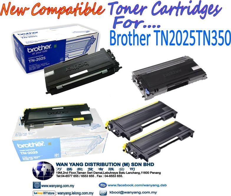 BROTHER  TN2025 TN 350 Compatible MONO  Toner cartridges