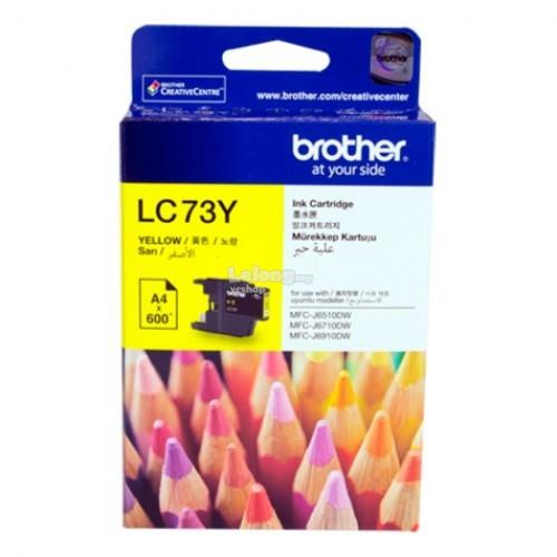 BROTHER YELLOW INK CARTRIDGE (LC-73)