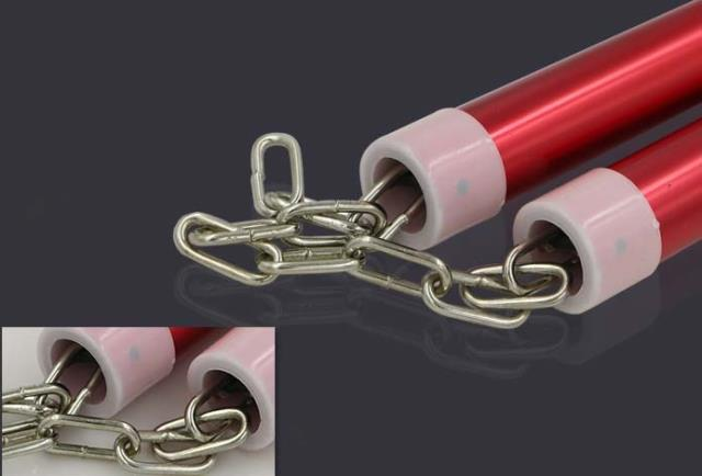 Bruce lee Weapon Nunchaku Aluminum String Chain