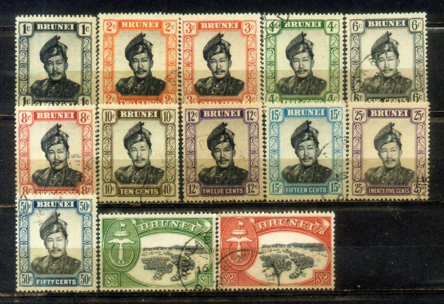 Brunei 1952 Definitive Up to $2