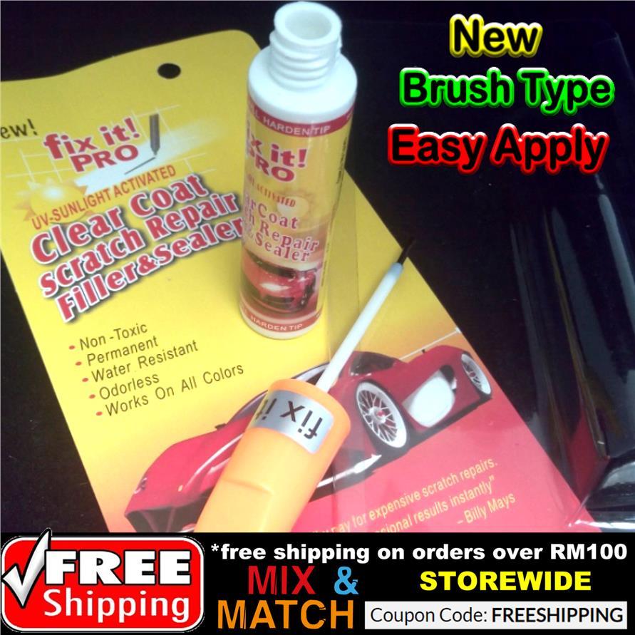 New Brush Type Fix It Pro Car Coat Paint Touch Up Clear Pen Scratch Re