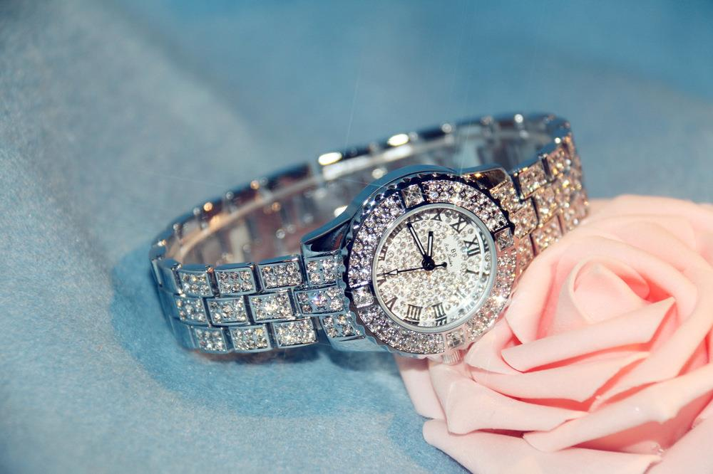 BS Bee Sister Diamond Ladies Watch