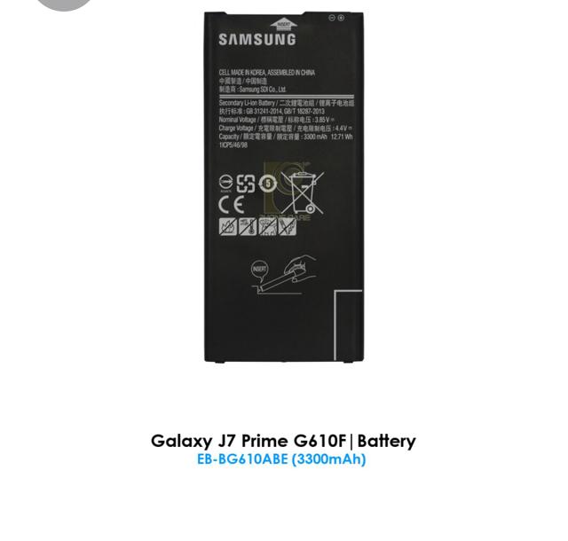 BSS Ori Samsung J7 Prime G610 Battery Replacement Sparepart 3300 mAh