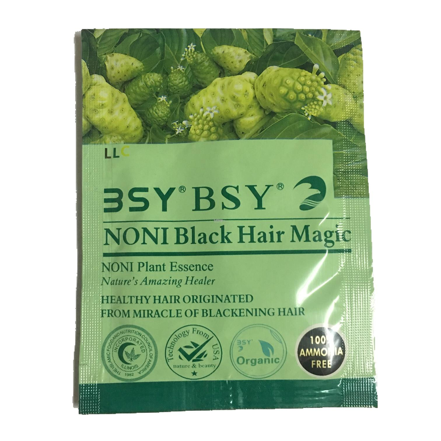 BSY Noni Black Hair Magic Genuine (1 X 20ml/sachet)