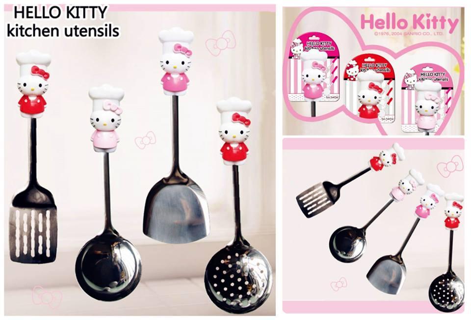 Bt0179 1 Pcs Hello Kitty Kitchen Utensils