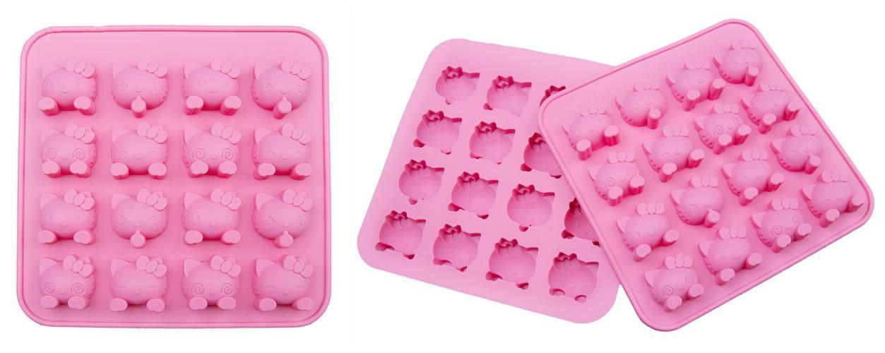 BT0354 HELLO KITTY 16 CAVITY SILICONE MOULD