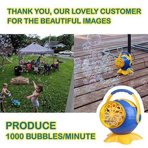 Bubble Machine for Kids, Automatic High Output Bubbles Blower 1000 Bubble per