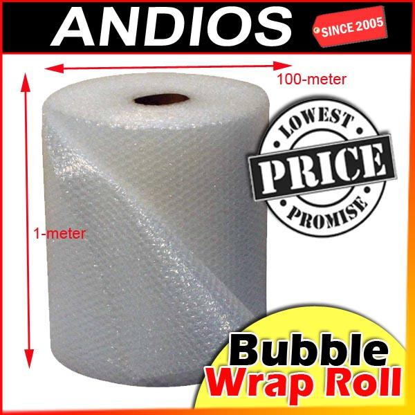 Bubble Wrap(100mtr x 1mtr)10mm Packaging Wrapping Post Parcel Buble