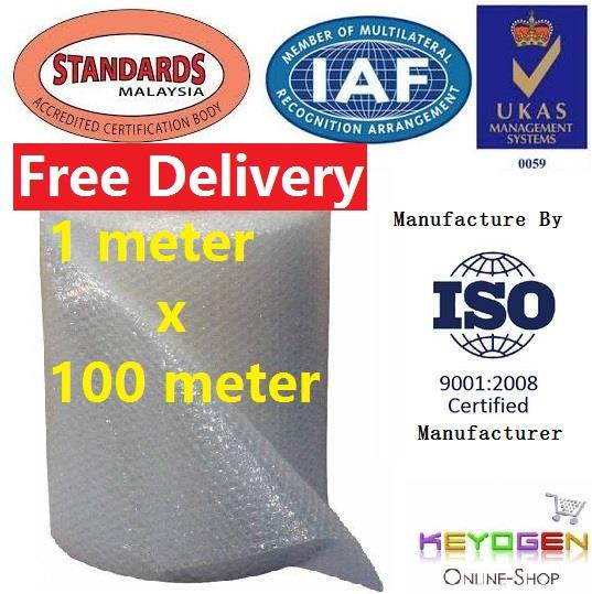 Bubble Wrap Free Delivery Food grade 1 meter x 100 meter - 1M x 100M