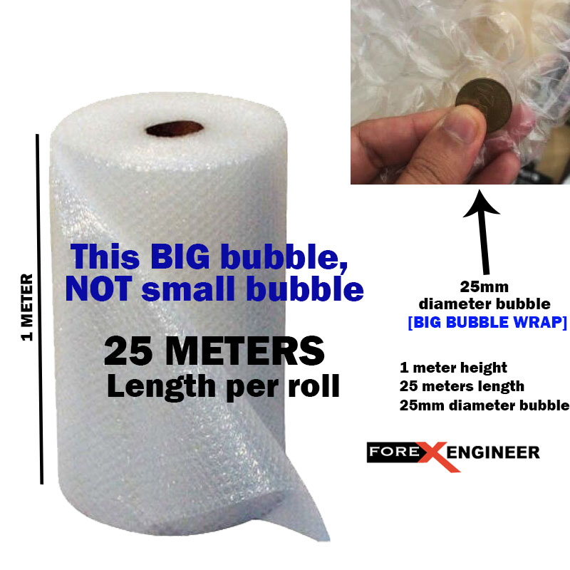 Bubble Wrap Packing Big Bubble 25M x 1M ( 25mm bubble size diameter )