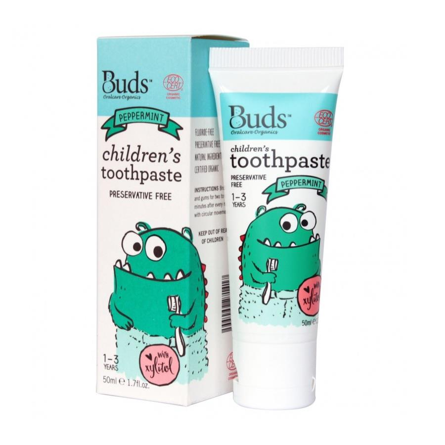 Buds Organic Children's Toothpaste Peppermint 1-3 years (50ml)