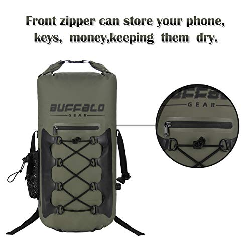 Buffalo Gear Portable Insulated Backpack Cooler Bag - Hands-Free and Collapsib