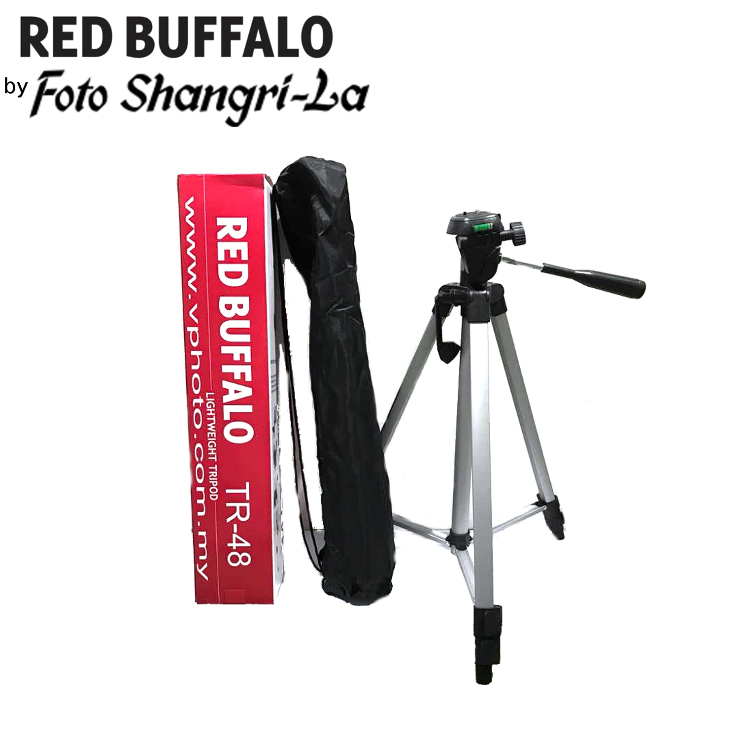 Buffalo TR-48 Camera Tripod 3-way head, 3 section closed channel leg d