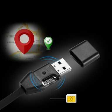 BUG USB Charging Data Transfer Cable GPS Locator With SIM Card Slot