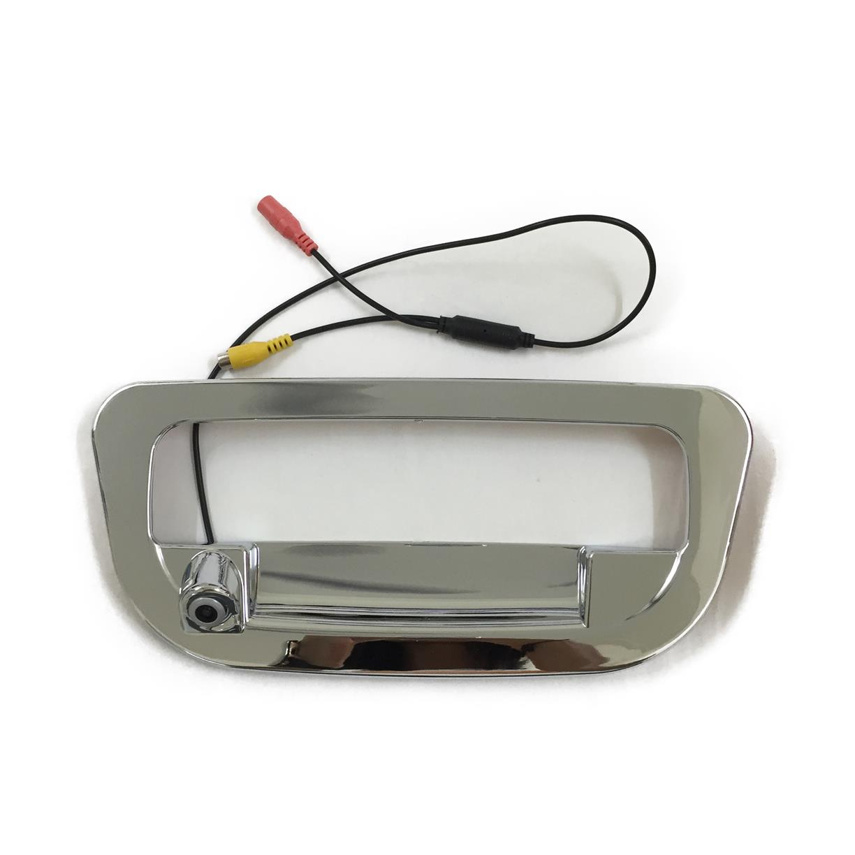 Built-in rear view camera tailgate cover