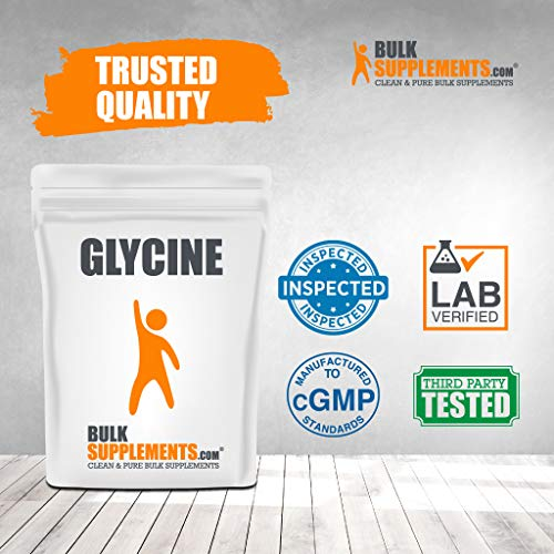 BulkSupplements.com Glycine (1 Kilogram - 2.2 lbs - 1000 Servings)