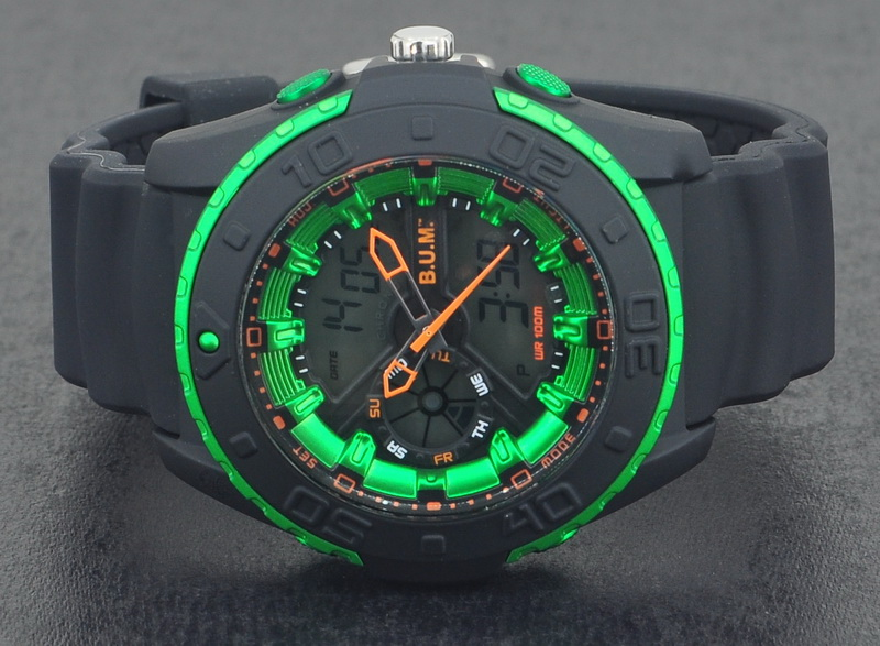 BUM Men Analog-Digital 100 Meter Sport Watch BUB86106