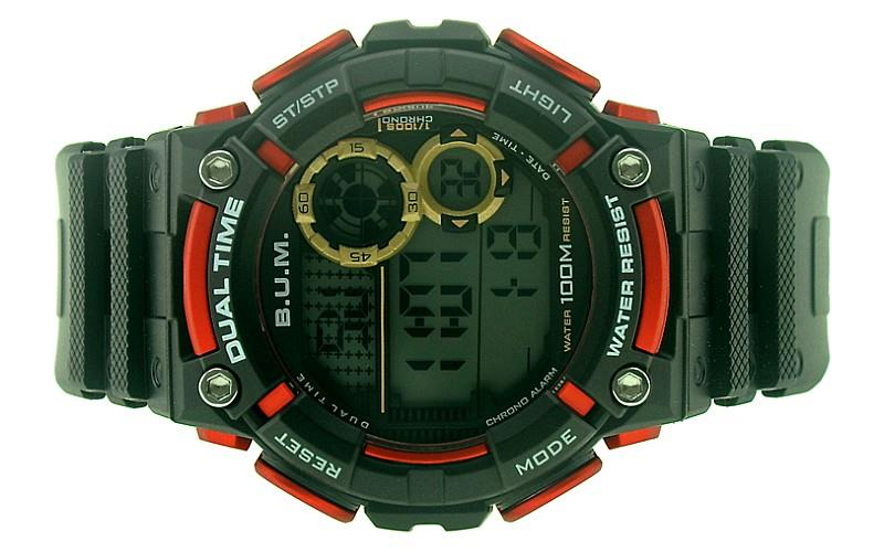 Bum Men Digital 100M Water Resistant Sport Watch BUBM00702A