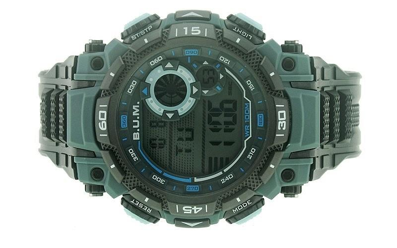 BUM Men Digital Chrono Notification Mode Rubber Sport Watch BUBM01604