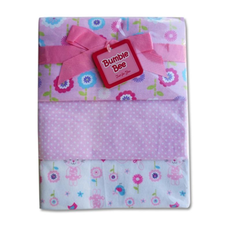 Bumble Bee Receiving Blanket for Baby (3 pcs) - Pink Rabbit
