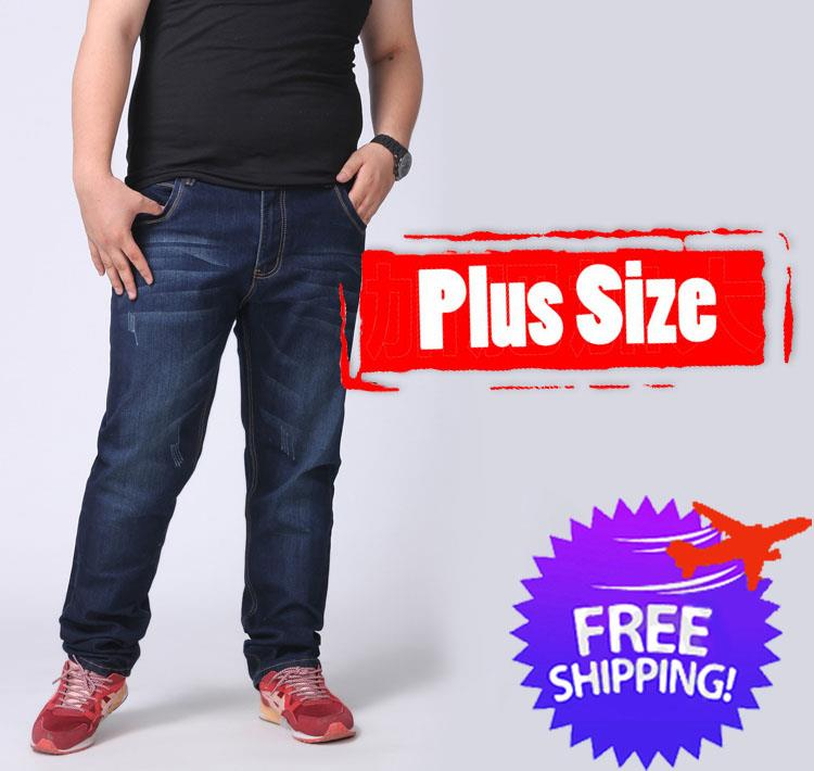[Bundle Deal] Plus Size Men Straight Cut Elastic Jeans Size 28 to 46