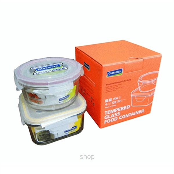 [Bundle Set] Glasslock Clean  & Fusion Set + Food Containers Set