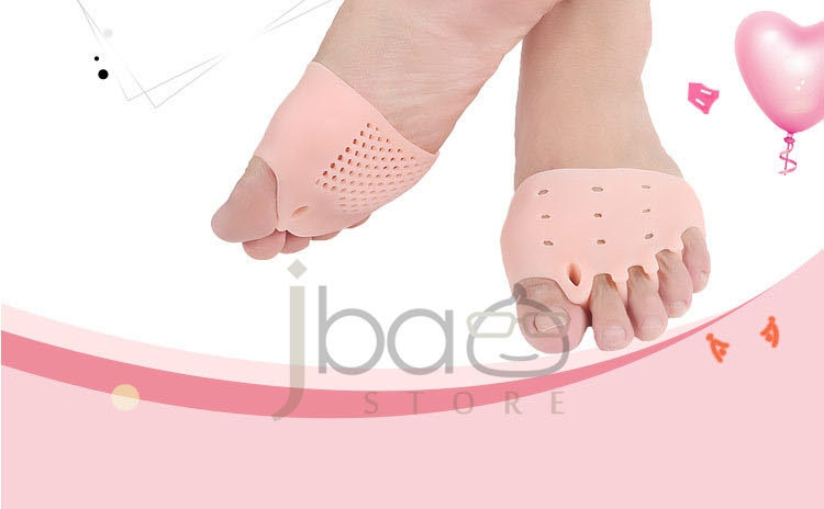 Bunion Silicone Gel Bent Toe 5 Toes Separator Metatarsal Pad Forefoot Support