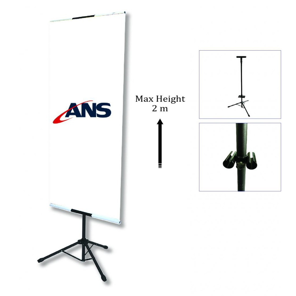 Bunting Tripod Stand Double Sided PORTABLE Adjustable T Stand