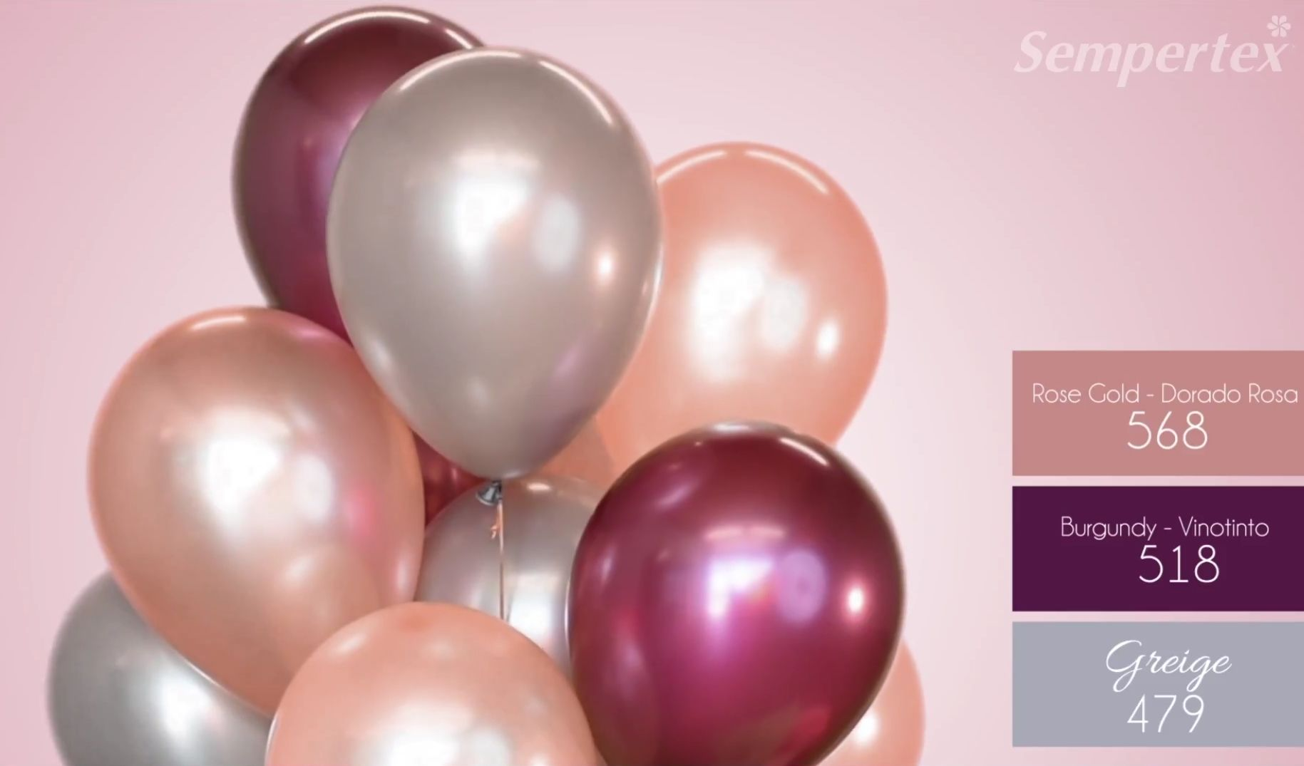 Burgundy Greige Rose Gold Balloons Match set (12pcs)
