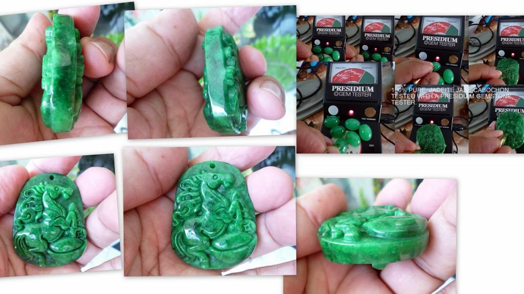 OLD MINE BURMESE GREEN JADE  'MAH'