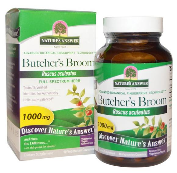 Butcher's Broom 1000mg 90Vcap, Butchers Broom Butcher Broom (USA)