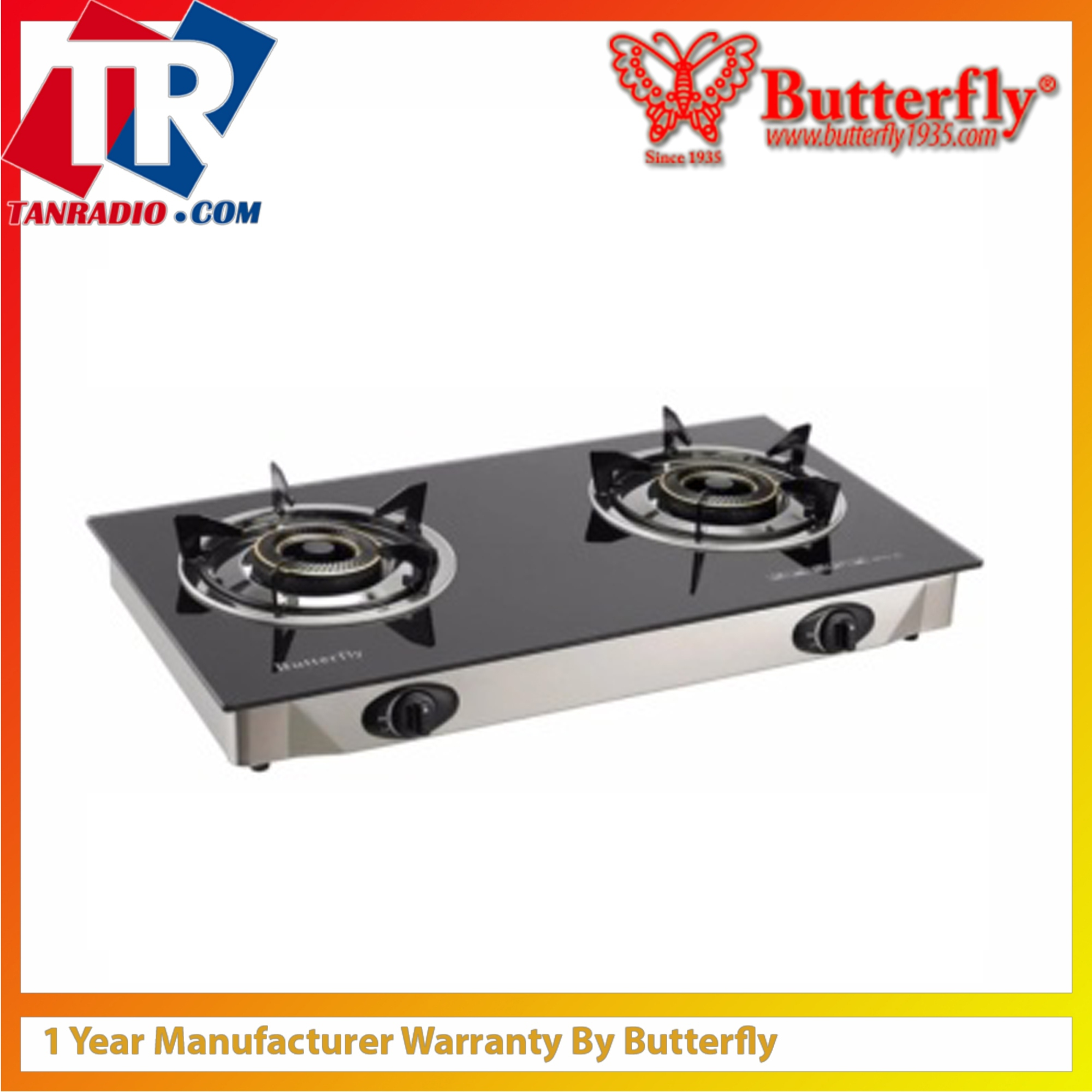 Erfly Table Gl Gas Stove With Auto Ignitor Btg 2l
