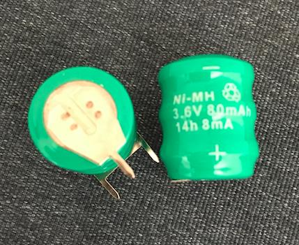 Button Cell 3.6V 80mAh