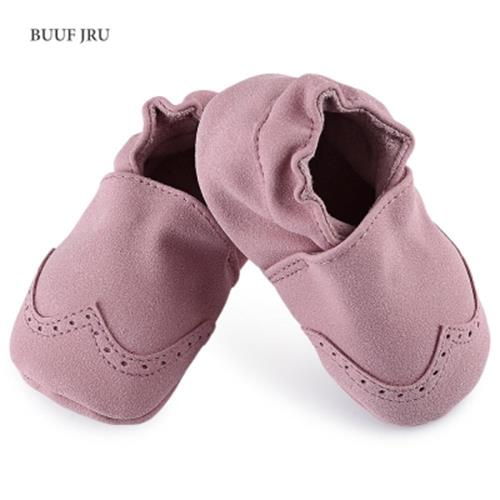 BUUF JRU BRIEF STYLE SOFT SOLE SOLID SLIPPERS FOR BABIES (PINK)