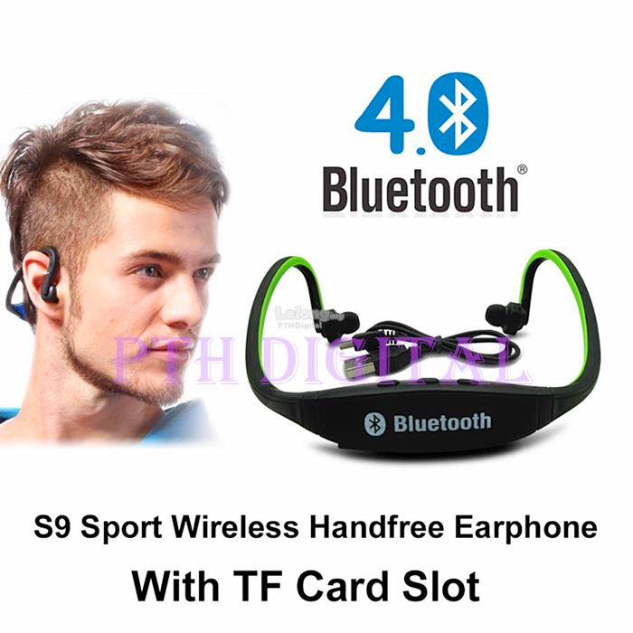 [BUY 1 FREE 1] W1 S9 Sport Mp3 Music Player Micro SD Headset Bluetooth. ‹ ›