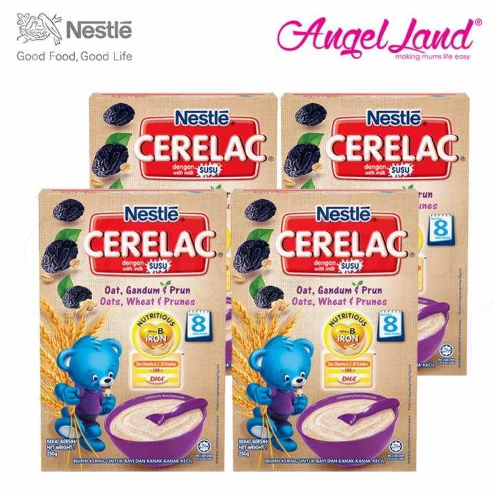 [Best Buy For 4] Cerelac Oats, Wheat & Prunes 8M+ (250G) X4