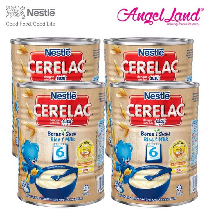 [Best Buy For 4] Cerelac Rice & Milk 6M+ (350G) x4