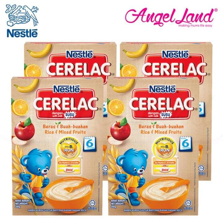 [Best Buy For 4] Cerelac Rice & Mixed Fruits 6M+ (250G) x4