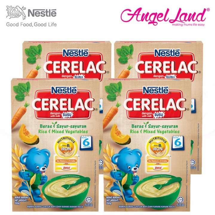 [Best Buy For 4] Cerelac Rice & Mixed Vegetables 6M+ (250G) x4