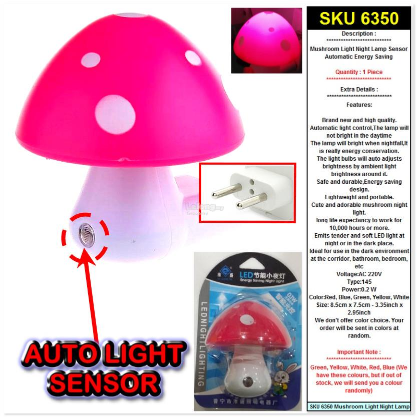[BUY1FREE1] 2x Mushroom Light Night Lamp Sensor Automatic Energy Savin