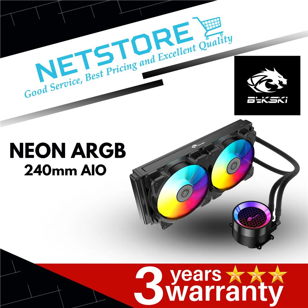 Best Aio Cooler 2020.Bykski Neon 240mm Argb Cpu Liquid Cooler B Frd240 Rbw