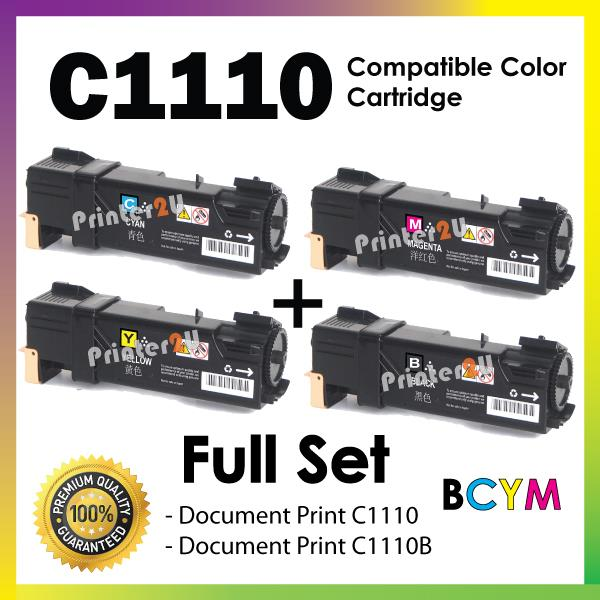 C1110 Black n Color Cartridge@Compatible Fuji Xerox C 1110/1110B Toner