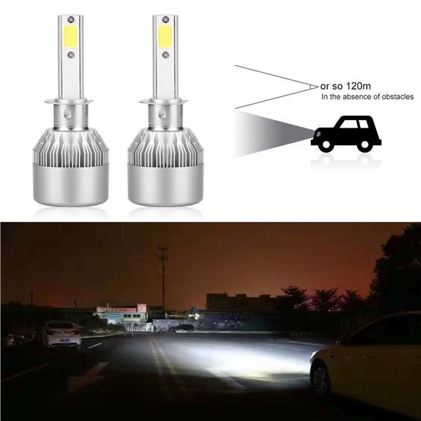 C6 LED H1 Bulb Headlight Conversion Kit 72W 7600LM - Headlamp Bulbs