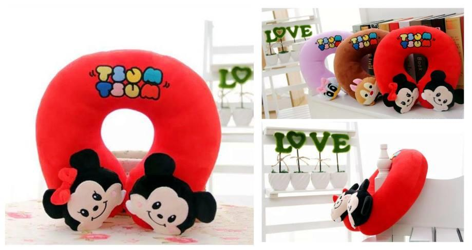 CA0004 MINNIE AND MICKEY U SHAPE CUSHION
