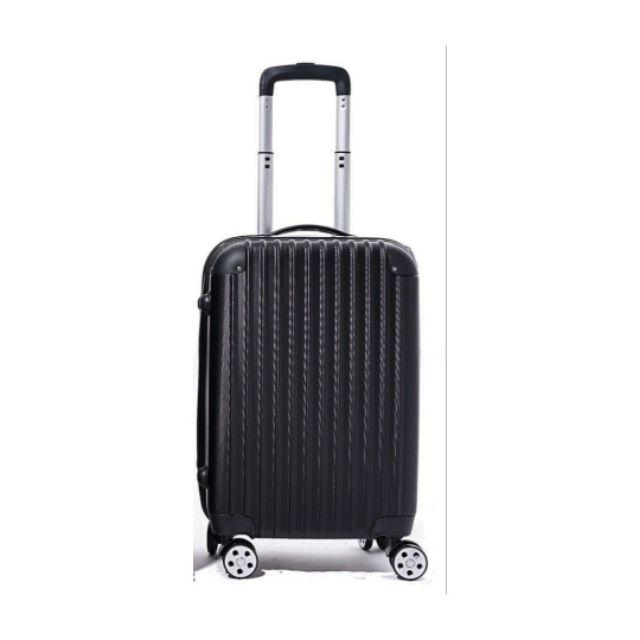 "Cabin Size Design 20inch Abs Travel Luggage Plain - Ac - [P:BLACK 20""]"
